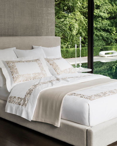 Full/Queen Plumes Embroidered Duvet Cover and Matching Items