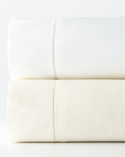 King 1,020 Thread Count Solid Sateen Fitted Sheet and Matching Items