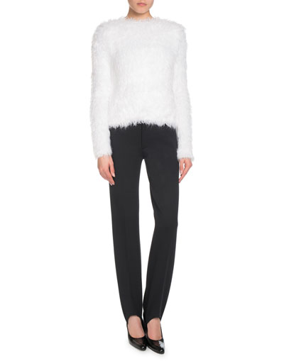 Faux-Fur Long-Sleeve Sweater  and Matching Items