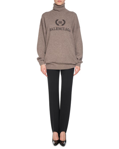 Cashmere-Blend Logo Embroidery Turtleneck Sweater  and Matching Items