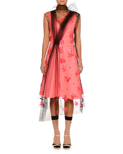 V-Neck Sleeveless Dress  and Matching Items