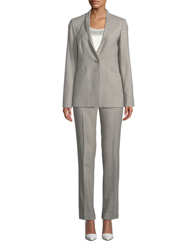 Darcy One-Button Stardust Wool Suiting Jacket  and Matching Items