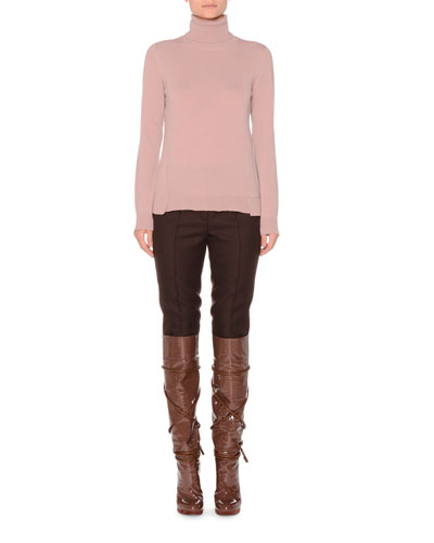 Eternal Cashmere Long-Sleeve Turtleneck Sweater, Pink and Matching Items