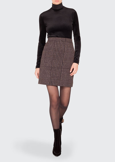 Turtleneck Long-Sleeve Modal-Stretch Top and Matching Items