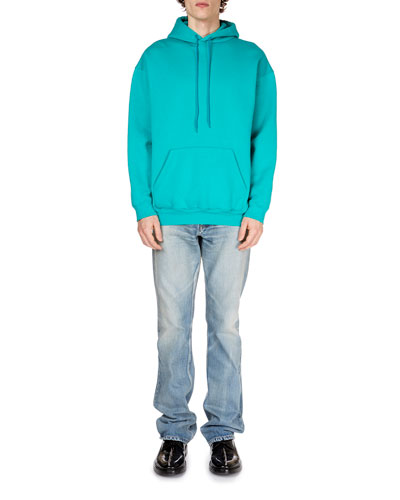 Men's Solid Knit Hoodie with Logo-Print and Matching Items