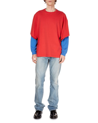 Men's Convertible Cotton Double T-Shirt and Matching Items