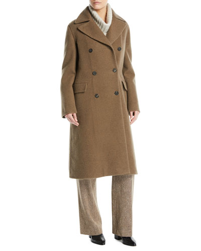 Double-Breasted Cashmere Coat  and Matching Items
