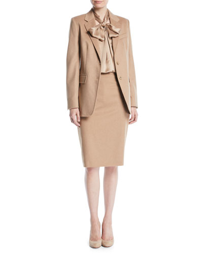 Penteon Two-Button Camel Hair Wool Jacket and Matching Items
