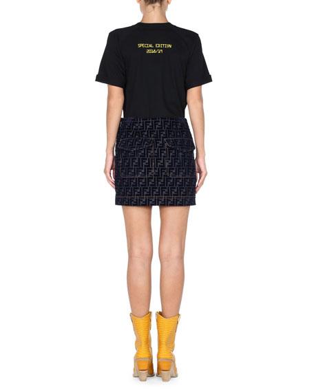 Short-Sleeve Crewneck Logo Cotton T-Shirt