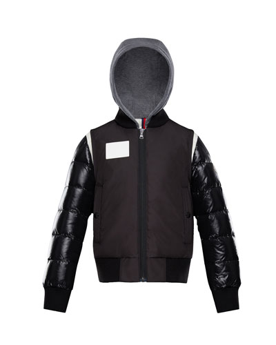 Montpellier Mixed-Media Hooded Jacket  Size 4-6  and Matching Items