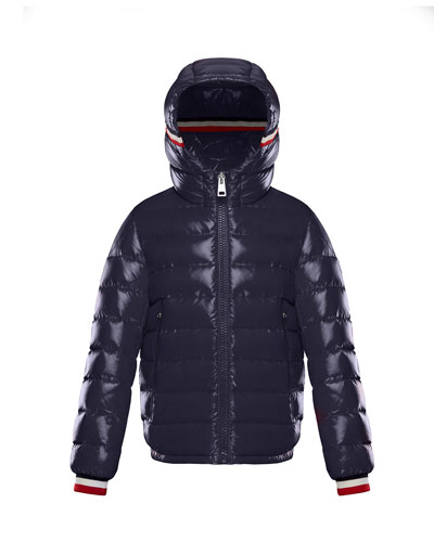 Alberic Puffer Jacket w/ Flag Details, Navy, Size 4-6 and Matching Items