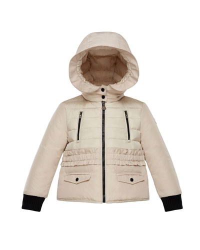 Adonise Two-Tone Ruffle-Trim Hooded Jacket, Size 8-14  and Matching Items