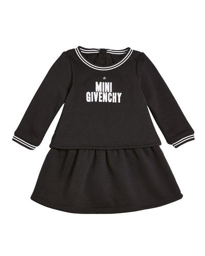 Long-Sleeve Mini Givenchy Logo Dress, Size 12-18 Months  and Matching Items