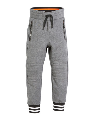Quilted-Knees Drawstring Jogging Pants, Size 4-5  and Matching Items