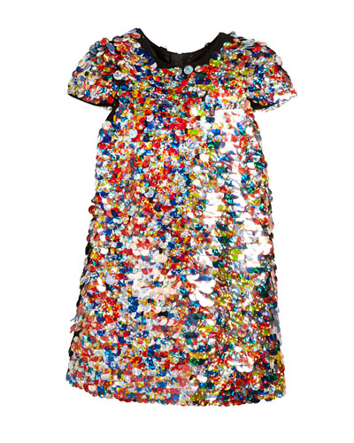 Chloe Multicolor Sequin Dress, Size 4-7 and Matching Items