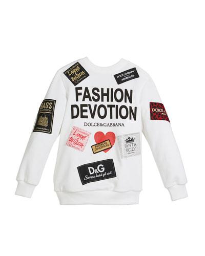 Fashion Devotion Sweatshirt w/ Patches, Size 4-6  and Matching Items