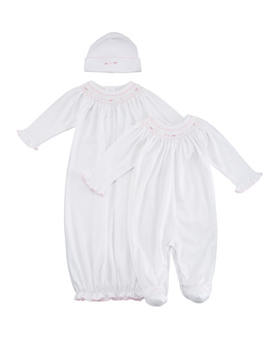 CLB Fall Bishop Smocked Convertible Gown, Size Newborn-S  and Matching Items