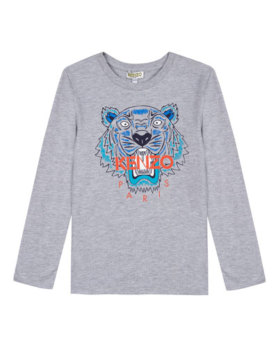 Long-Sleeve Tiger Icon Tee, Size 2-6  and Matching Items