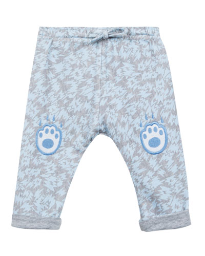 Animal-Print Fleece Pants w/ Logo Embroideries, Size 12-18 Months  and Matching Items