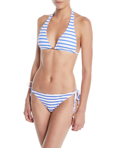 Reversible Elephant/Stripes Triangle Bikini Top and Matching Items