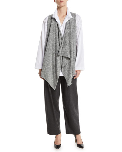 Draped-Front A-Line Tweed Waistcoat and Matching Items