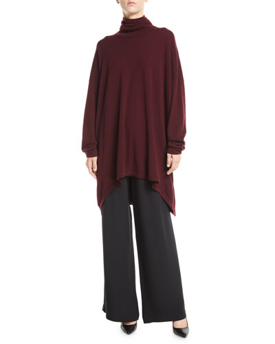 Scrunch Turtleneck Long-Sleeve Cashmere Sweater  and Matching Items