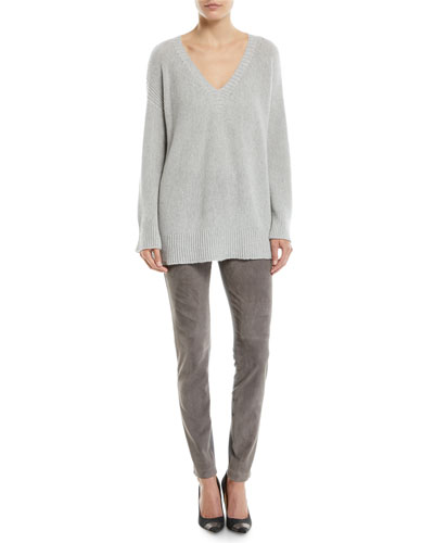V-Neck Relaxed Sequin Cashmere-Blend Sweater and Matching Items