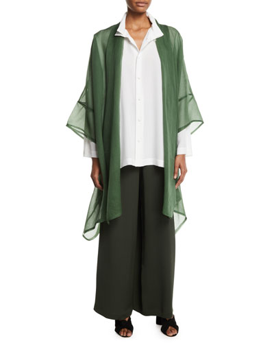 Wide-Leg Silk Trousers  and Matching Items