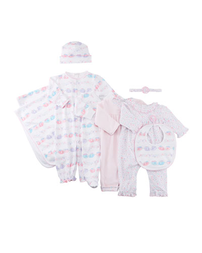 Eloquent Elephants Printed Convertible Gown, Size Newborn-S  and Matching Items