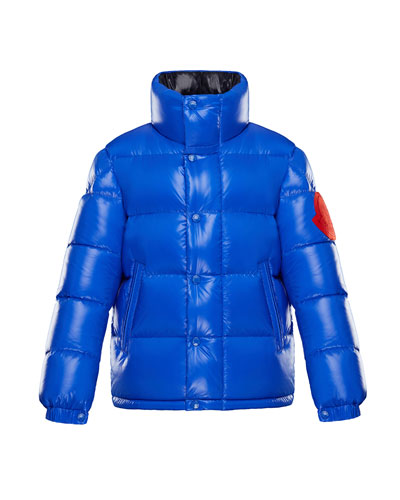 Dervaux Stand-Collar Quilted Jacket w/ Contrast Logo  Size 4-6  and Matching Items