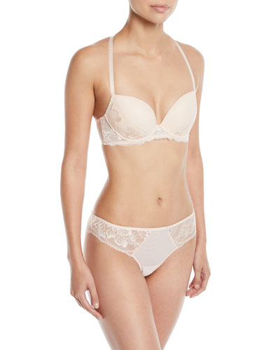 Promesse Lace-Trim Push-Up Bra and Matching Items