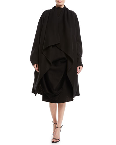 Draped Oversized Cocoon Coat and Matching Items
