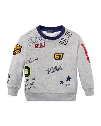 Logo Patches Sweatshirt, Size 2-4  and Matching Items