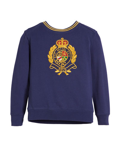 Logo Crest Embroidered Sweatshirt, Size 2-4  and Matching Items