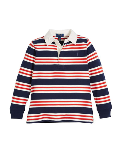 Long-Sleeve Striped Rugby Top, Size 2-4  and Matching Items