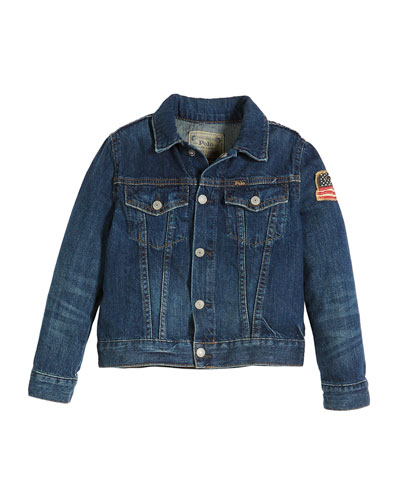 Denim Trucker Jacket, Size 2-4  and Matching Items