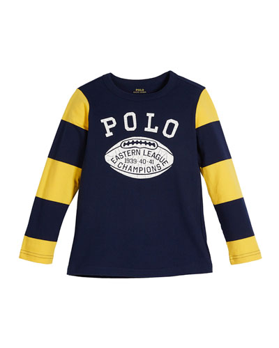 Polo Football Striped-Sleeves T-Shirt, Size 2-4  and Matching Items