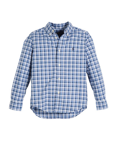 Long-Sleeve Plaid Button-Down Shirt, Size 2-4  and Matching Items