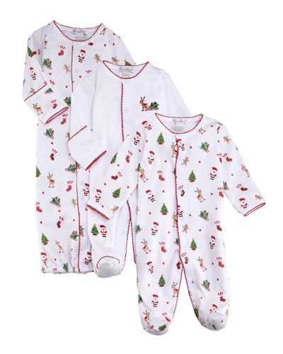 Tis The Season Printed Pima Convertible Gown, Size Newborn-S  and Matching Items