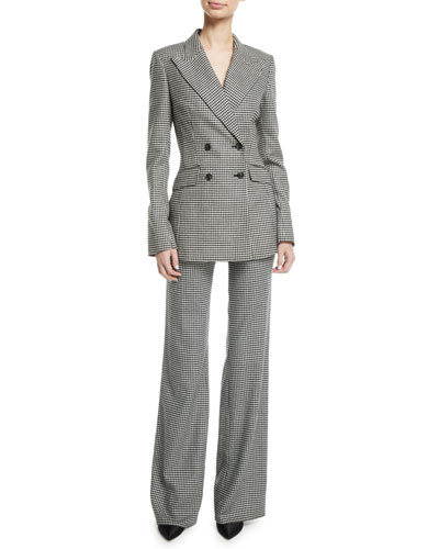 Dario Double-Breasted Houndstooth Wool-Cashmere Blazer  and Matching Items