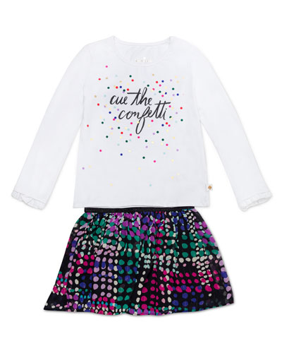 cue the confetti top w/ spot-print skirt, size 12-24 months  and Matching Items