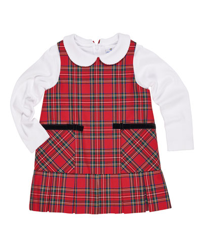 Tartan Plaid Jumper w/ Peter Pan-Collar Top, Size 9-24 Months  and Matching Items