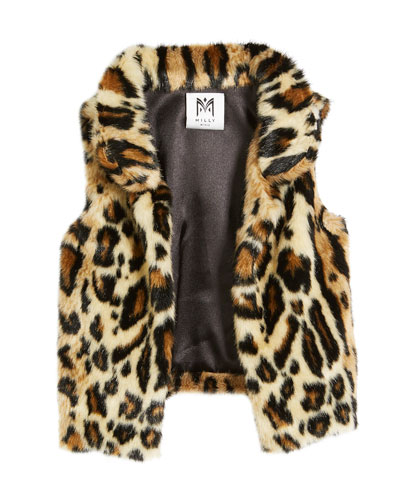 Cheetah Faux Fur Vest, Size 4-7  and Matching Items