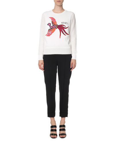 Long-Sleeve Graphic Knit Sweater Top and Matching Items