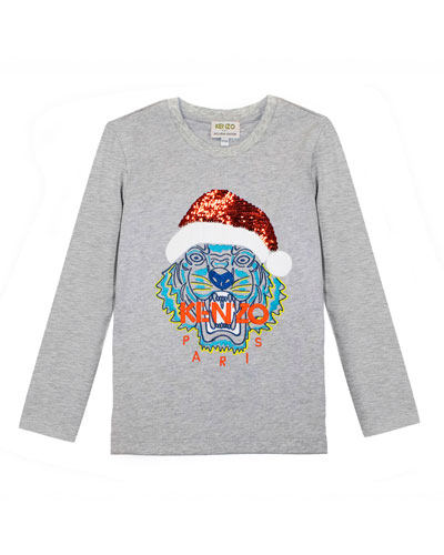 Flip Sequin Santa Tiger Tee, Size 4-6  and Matching Items