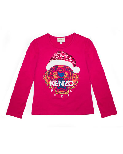 Flip Sequin Santa Tiger Tee, Girls' Size 4-6  and Matching Items
