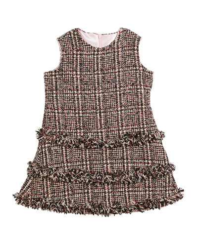 Tweed Fringe A-Line Dress, Size 2-6 and Matching Items