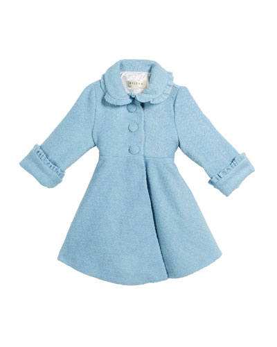 Lambs Wool-Blend Ruffle-Trim Coat, Size 2-6  and Matching Items