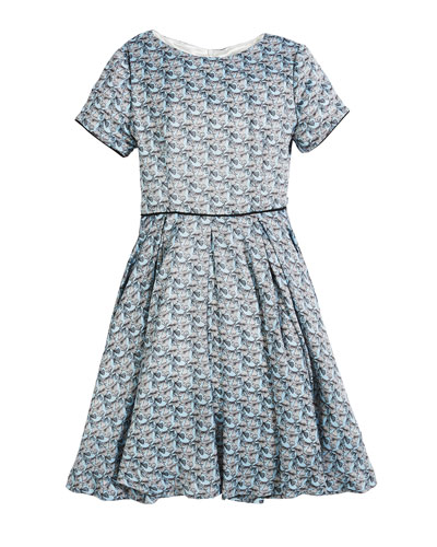 Short-Sleeve Printed Dress, Size 2-6  and Matching Items