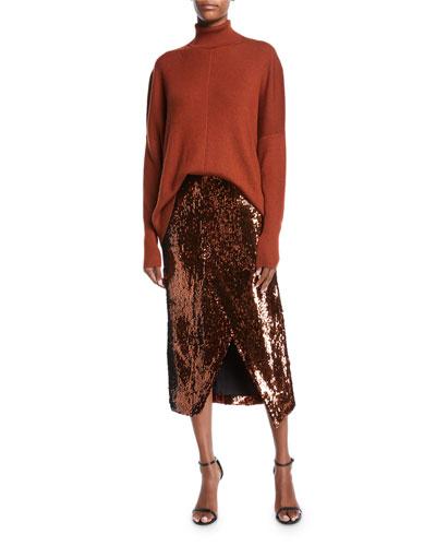 Lightweight Cashmere-Silk Turtleneck Sweater and Matching Items